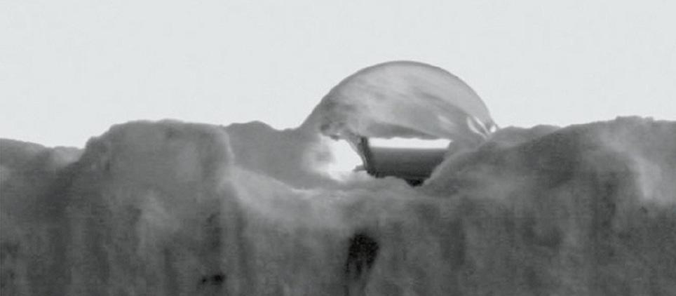 Hydrof?bny povrch omietky