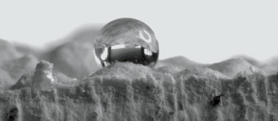 Hydrofóbny povrch omietky